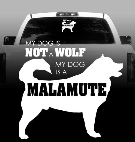 Not a Wolf Vinyl Decal - Alaskan Malamute - Car, Truck, Window