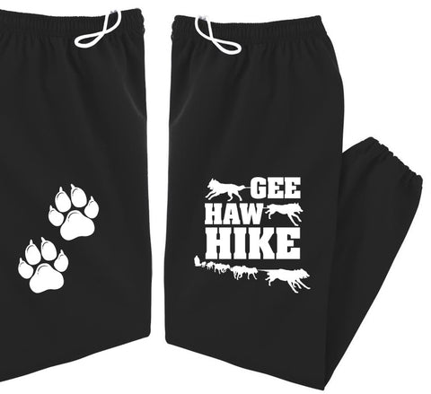 GEE HAW HIKE - Siberian Husky - Alaskan Malamute - Sled Dog Sweatpants - Adult, Men, Women Unisex