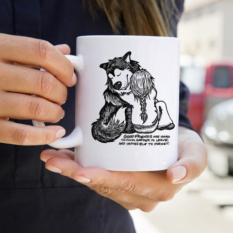 Good Friends Alaskan Malamute Mug - Coffee Mug