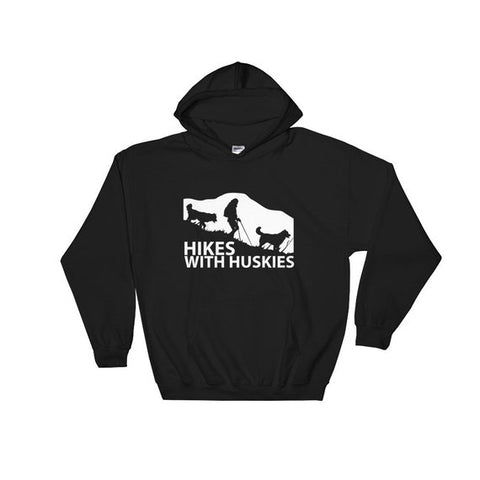 Hikes With Huskies - Siberian Husky - Pullover Hoodie 8 oz