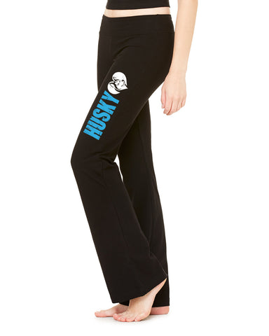 Husky Love - Siberian Husky Heart - Ladies' Cotton/Spandex Fitness Pant Yoga - Women
