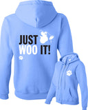 JUST WOO IT! - Siberian Husky - Alaskan Malamute - Sled Dog Sweatshirt - Women, Ladies