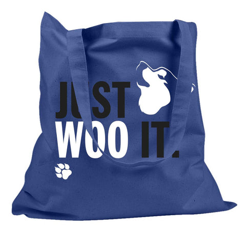 JUST WOO IT! Canvas Tote Bag - Dogs, Snow, Sled Dog - Alaskan Malamute, Siberian Husky