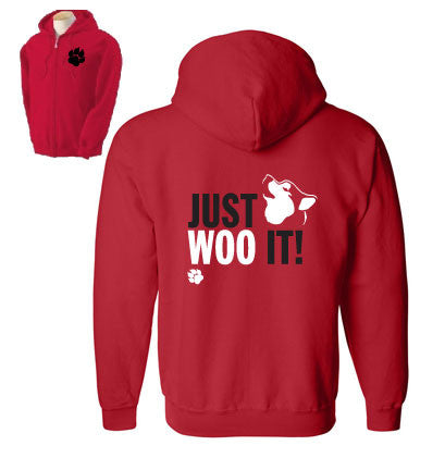 JUST WOO IT! - Siberian Husky - Alaskan Malamute - Sled Dog Zip Sweatshirt - Man, Ladies, Unisex