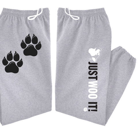 JUST WOO IT! - Siberian Husky - Alaskan Malamute - Sled Dog Sweatpants - Adult, Men, Women Unisex