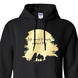 Life is Would Be Empty Without Woo - Siberian Husky - Alaskan Malamute - Sled Dog Pull Over Hoodie - Men, Ladies, Unisex