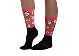 Alaskan Malamute Christmas Pattern Sublimation Socks