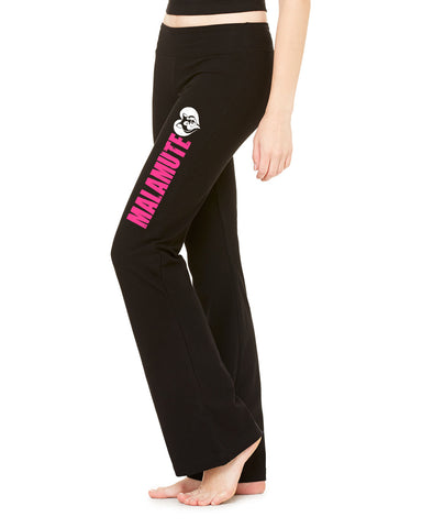 Malamute Love - Alaskan Malamute Heart - Ladies' Cotton/Spandex Fitness Pant Yoga - Women