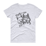 Naughty or Nice - Siberian Husky, Huskies Christmas Ladies T-Shirt
