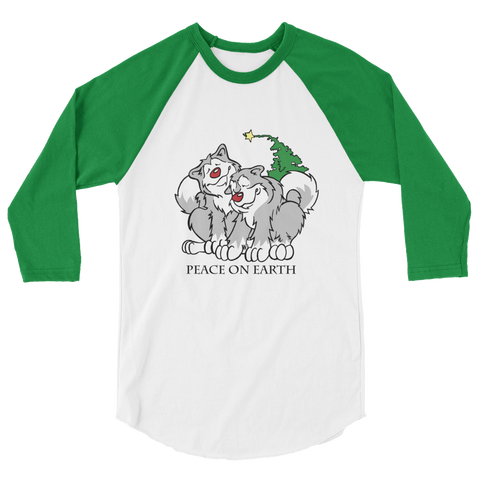 Peace on Earth Malamute Unisex Fine Jersey Raglan