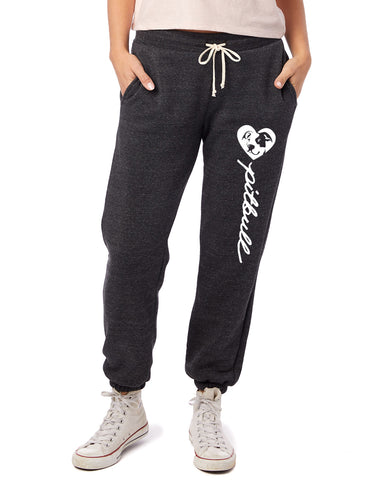 Pitbull Heart Script - Women's Jogger Pants - Pitbull Terrier
