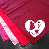 Pitbull Terrier Heart Bandana - Dog Art - Cropped Ears