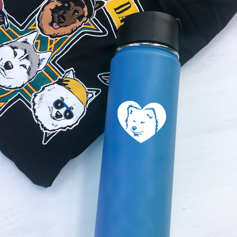 Samoyed Mini Decals - Vinyl Decal - Water Bottle, Laptop, Bike, Sled