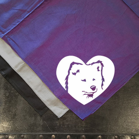 Samoyed Heart Bandana - Dog Art