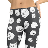 Samoyed - Dog Art Illustration Pattern on Leggings – Sammies - Made in America