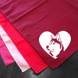 Husky Heart Bandana - Siberian Huskies - Dog Art