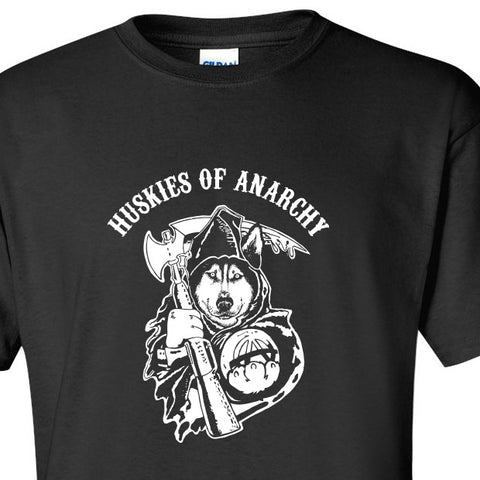 Huskies of Anarchy - Dog, Siberian Husky Softstyle T-Shirt