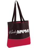Husky Mom Tote, Bag - Siberan Huskies - Super Fun & Cute