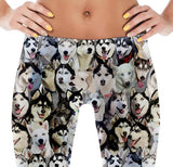 Siberian Husky Dog Photo Pattern on Leggings - Huskies – Made in America