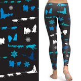 Sled Dog Musher Leggings - Siberian Husky & Alaskan Malamute – Made in America