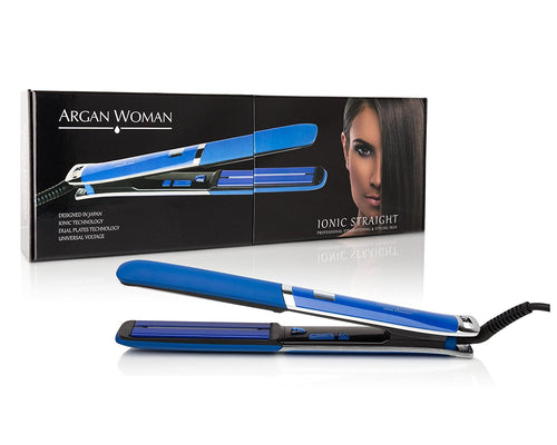 Argan Ionic Straight Flat Iron Dual-Plate Technology Titanium & Ceramic Frizz-Free LCD Display - GetYourPerfume.com