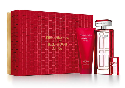 Red Door Aura 3 Pcs. Gift Set by Elizabeth Arden for Women - GetYourPerfume.com