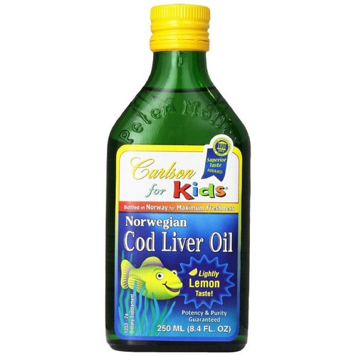 Carlson 8.4 oz Norwegian Cod Liver Oil Lemon for Kids - GetYourPerfume.com