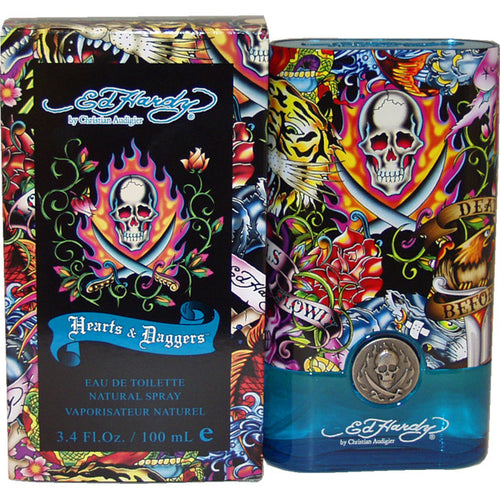 Ed Hardy Hearts & Daggers by Christian Audigier 3.4 oz EDT Spray for Men