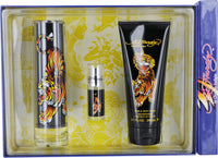 Ed Hardy by Christian Audigier 3 Piece Gift Set for Men
