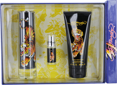 Ed Hardy by Christian Audigier 3 Piece Gift Set for Men - GetYourPerfume.com