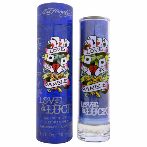 Ed Hardy Love & Luck by Christian Audigier 1.0 Oz Eau De Toilette Spray for Men - GetYourPerfume.com