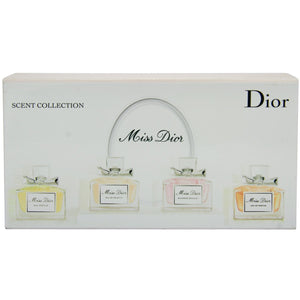 4-Piece Set: Miss Dior Scent Collection for Her Gift Box - GetYourPerfume.com