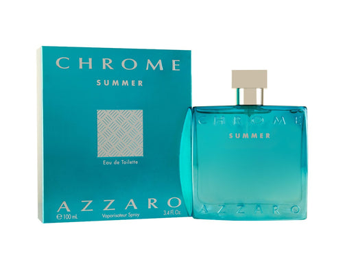 Azzaro Chrome Summer by Loris Azzaro 3.4 oz Eau de Toilette EDT Spray for Men - GetYourPerfume.com