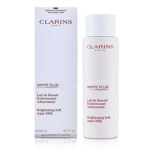 Clarins White Plus Total Luminescent Brightening Soft Aqua-Milk 6.7 oz - GetYourPerfume.com