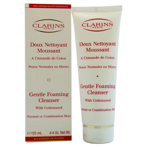Clarins Gentle Foaming Cleanser with Cottonseed Normal to Combination Skin 4.4 oz - GetYourPerfume.com