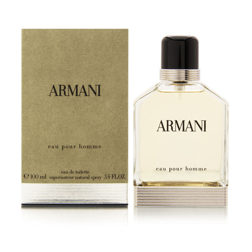 Armani Eau Pour Homme by Giorgio Armani  3.4 oz Eau De Toilette EDT Spray for Men