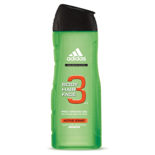 Active Start 3 in 1 Body, Hair,  & Face Wash by Adidas 16.1 oz Shower Gel