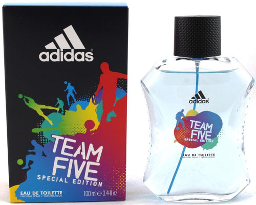 Team Five Special Edition by Adidas 3.4 oz Eau De Toilette Spray for Men