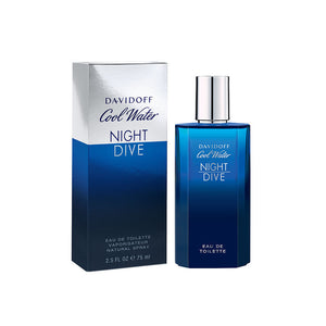 Cool Water Night Dive by Zino Davidoff 2.5 oz Eau de Toilette Spray for Men