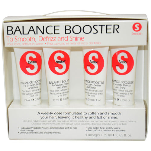 Tigi S Factor Balance Boosters 4 Weekly Doses Tubes 0.85 oz Each