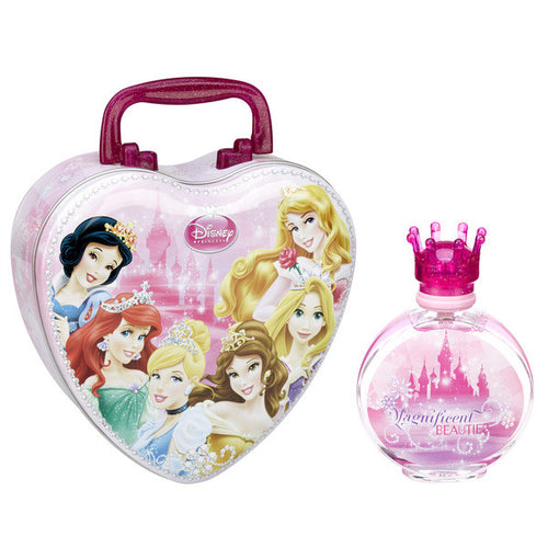 Disney Princess by Disney  3.4 oz Eau de Toilette EDT Spray with Metal Lunchbox for Girls - GetYourPerfume.com