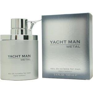 Yacht Man Metal by Yacht Man 3.4 oz Eau de Toilette Spray for Men - GetYourPerfume.com