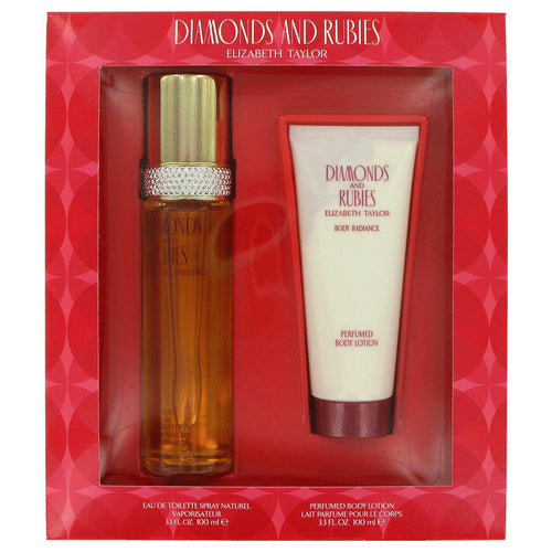 Diamonds and Rubies by Elizabeth Taylor 2 Piece Gift Set for Women - GetYourPerfume.com