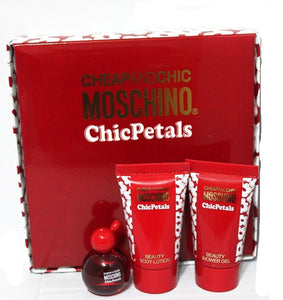 Cheap & Chic Moschino Chic Petals by Moschino 3 Piece Mini Set for Women - GetYourPerfume.com