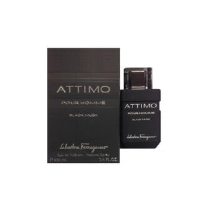 Attimo Black Musk by Salvatore Ferragamo 3.4 oz Eau de Toilette Spray for Men - GetYourPerfume.com