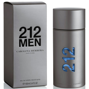 212 Men by Carolina Herrera  3.4 oz Eau de Toilette EDT Spray for Men - GetYourPerfume.com