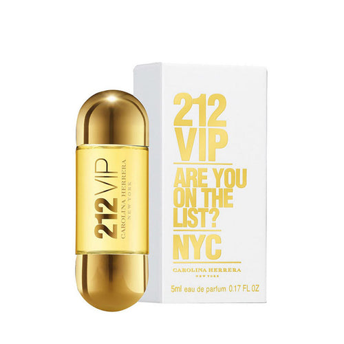 Carolina Herrera 212 VIP Carolina Herrera  0.17 oz Eau de Parfum EDP Mini Spray for Women - GetYourPerfume.com