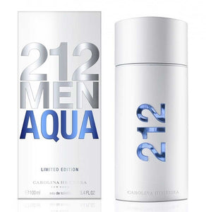 212 Aqua by Carolina Herrera 3.4 oz Eau De Toilette Spray for Men - GetYourPerfume.com