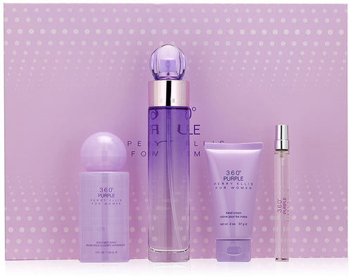 360 Purple by Perry Ellis 4 Piece Gift Set for Women - GetYourPerfume.com