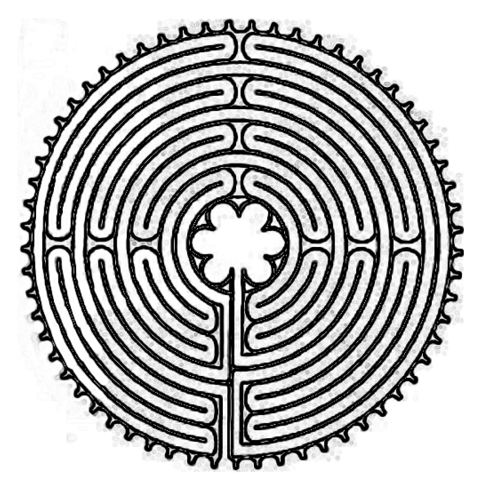 Chartres Labyrinth Drawing